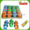 Doces e brinquedos( puxar linha engenheiro caminhão com luz de brinquedo dos doces)