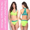 2014 Sexy Girl Micro Bikini Swimwear Models Two-tone Green Bikini Swimsuit
