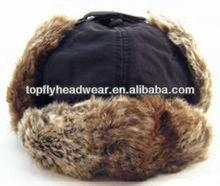 2014 black simple but fashion ear flap winter caps