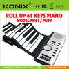 Portable 61 keys Digital MIDI Roll-up Soft Electronic Piano Keyboard