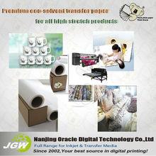 Premium Ecosolvent T-shirt transfer paper ,light or dark,roll size