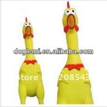 Squeeker chicken latex dog toy, crazy chicken pet toy