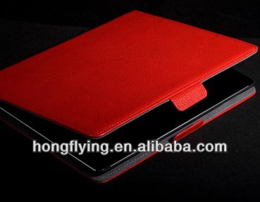 OEM factory magnetic flip Leather case for ipad 2/3/mini