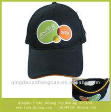 customize 100% cotton high quality and fashion cheap baseball hats sandwich