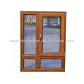 de madera de diseño de la ventana de perfil de aluminio para hacer los materiales