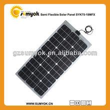 mono flexible solar panel 75W 18V price SYK75-18MFX car battery charger