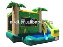 18' Tropical Side Inflatable Slide Wet Dry Combo