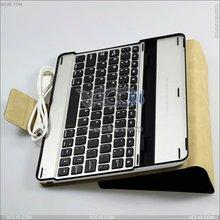 2014 Wholesale Alibaba Aluminum Bluetooth Keyboard Leather Case for iPad 2 3 4 P-iPAD3CASE034