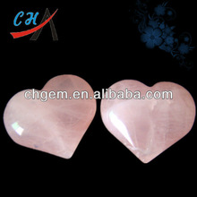 wholesale semi gem & rose quartz heart charmheart charm