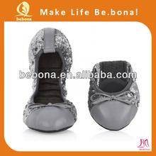 2014 classic bronze foldable Shoes Women's Please Ballerina Flat