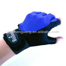 Leather Weight Lifting Gloves Grip Pad