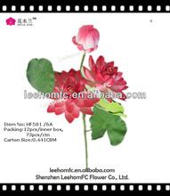Pink Artificial Water Lily Silk Lotus Flower