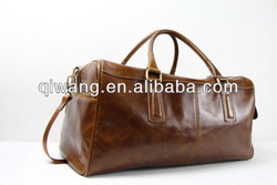 Luxury leather travel bag sports bag for men