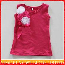 Wholesale 2013 fashion kids/ children plain T-shirt for girls