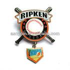 dangler and rhinestones baseball lapel pins