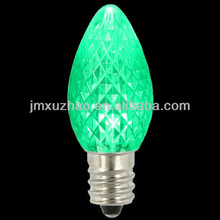 UL 120V C7 Faceted Strawberry Green E12 Led Bulb