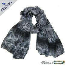 fancy lady printing silk shawl