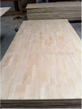 rubber wood finger joint board with laminated plywood