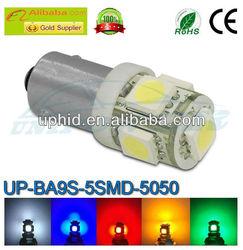 360-Degree Shine 5-SMD 5050 BA9S Led bulb for 64111 64132 or H6W etc