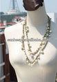 de la manera larga cadena de oro collar de perlas