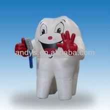 2013 de dibujos animados inflables publicitarios de dientes para uso comercial