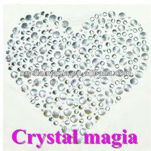 silver nailhead heart strass iron on motif heat transfer pattern