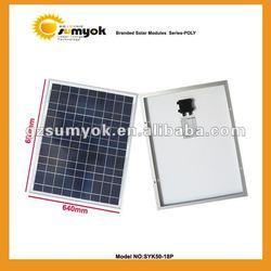 high-class solar pv panel 50W poly solar module 12V