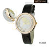 Round case with diamante inside quartz watch for women 2013