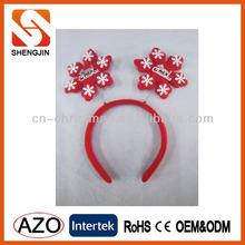 Fashion Holiday christmas snowflake headband/christmas decoration/X'mas party headband for kids