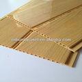 Décoration pvc huning rainure et languette plafond,( étanche., la couleur du bois)