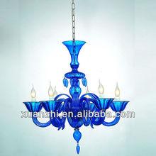 cheap chandelier, modern blue color glass chandelier MD8029-6