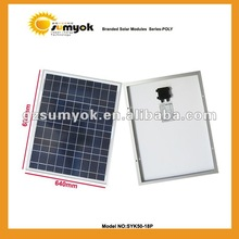 high quality cheap price for poly solar panel 50w 18v