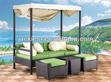 L106 double bed beach sofa, garden bed rattan