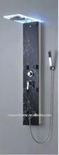 Black Glass Led Thermostatic Shower Panel G8222