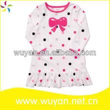 long sleeve autumn cheap nightgown for girls