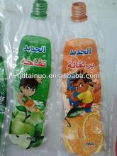qingdao tainuo fruit juice plastic bottle shape packing bag/sachet/tube/pouch