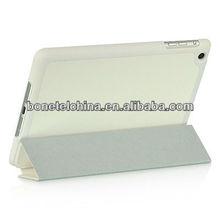 White color Leather cases for ipad mini+Competitve price cover for ipad mini