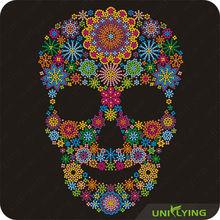 The most beautiful rhinestone floral skull