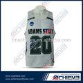 Sublimación custom design hotsale baloncesto jersey / uniforme