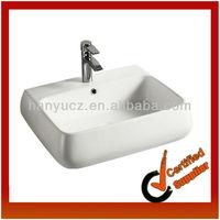 HY-5090 2013 new design rectangular ceramic public bathroom sinks