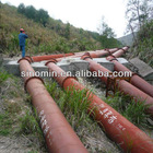 OD50-1200MM wear resistance rubber lined steel slurry pipe for tailings transportation