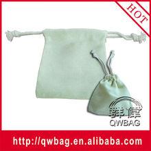 white small canvas drawstring pouch bag 100% cotton