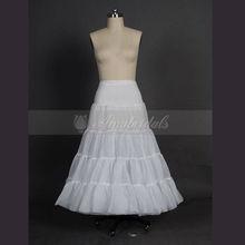P8836 Hot Sale Puffy Ruffles Long White Petticoat