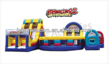 inflatable adrenaline rush extreme obstacle course for commercial rentals