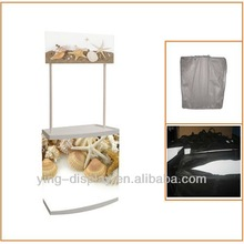 Make Up Plastic Promotion Table Display Stand with digital print