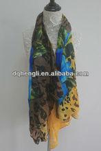 Impresión personalizada de seda del mantón