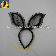 Black Lace Bunny Ear Headband for Design for Bunny Party