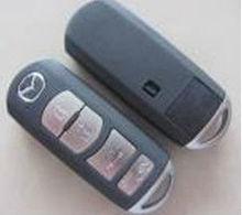 High quality 3+1 button smart key cover for mazda remote key head with MAZ24R emergency key