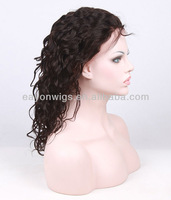 wholesale top quality in stock 100% 8 inch human hair full lace wig