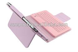 Bluetooth Wireless Silicone Keyboard PU Case For Ipad Mini